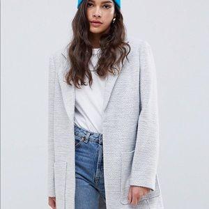 ASOS DESIGN textured slim coat